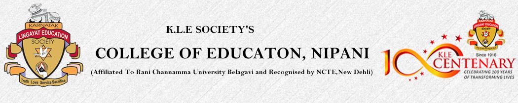 K.L.E. Society's College of Education, Nipani